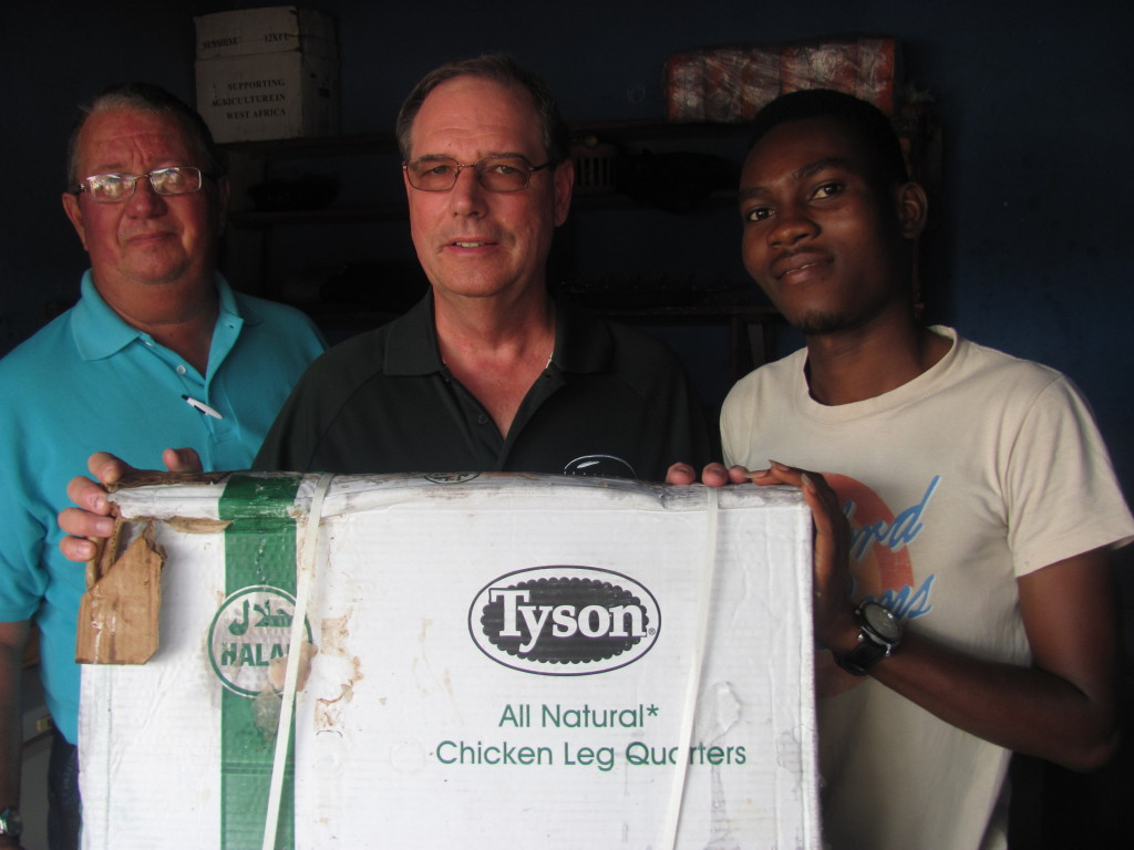 Lueck and Cates found U.S. Tyson leg quarters are already sold in the Ghanaian market place along with U.S. soybean meal and whole soybeans.
