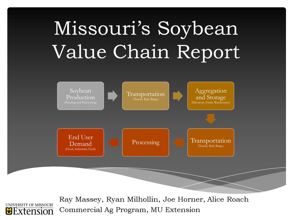 Missouri Soybean Value Chain Study Now Available