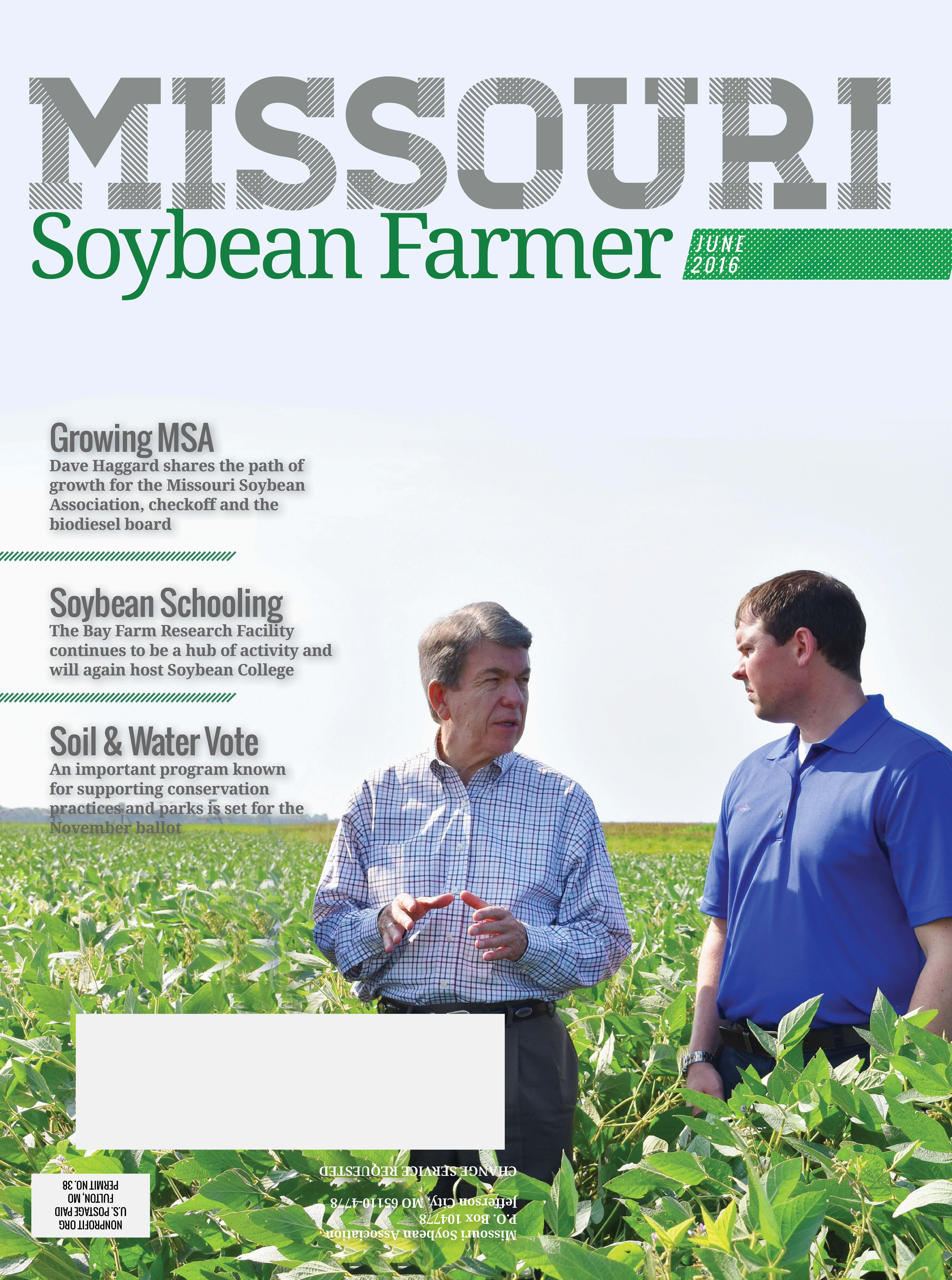 June 2016 Issue of Missouri Soybean Farmer Available Now