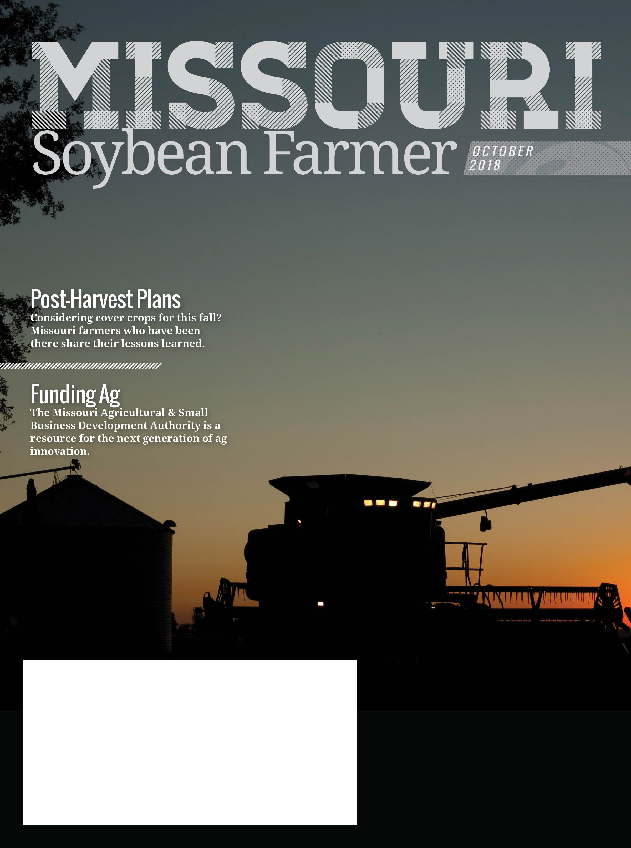 Read the October 2018 Issue of Missouri Soybean Farmer Now