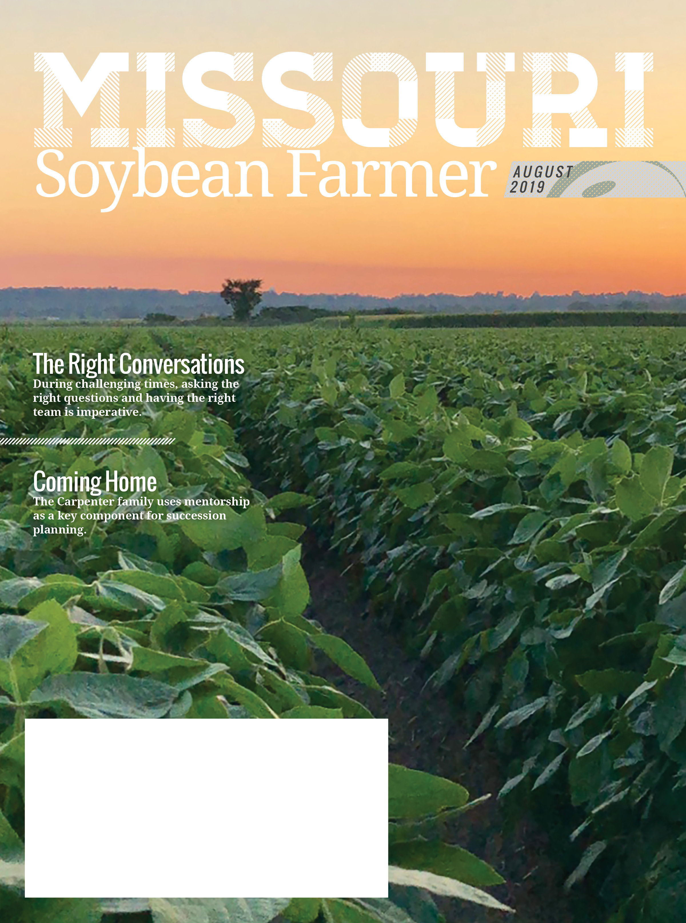 August 2019 Issue of Missouri Soybean Farmer Magazine Online Now