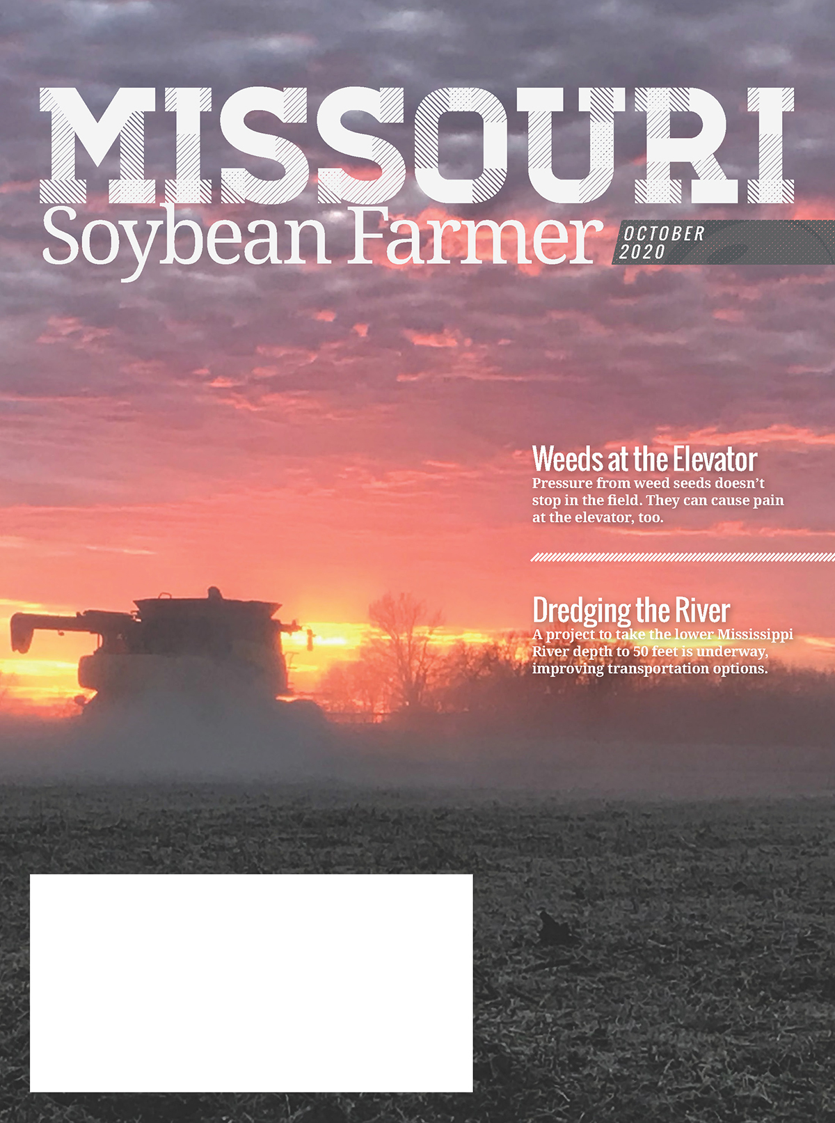 October 2020 Issue of Missouri Soybean Farmer Magazine Online Now
